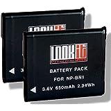 2x LOOKit ® Markenakku NP-BN1 / 650mAh -- passend für Sony QX30 / Sony DSC-W830 / DSC-W810 / Sony DSC QX10 / Sony QX100 / DSC-WX200 / DSC-WX80 / DSC-WX60 / Sony DSC-WX220 / Sony Cyber-shot DSC-WX220