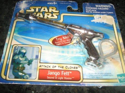 2002 Lucasfilm Hasbro Larami Limited Star Wars Attack Of The Clones Jango Fett Sound & Light Blaster 84681/84100 Asst. (Jango Fett Blaster)