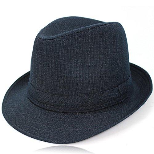 Sombrero regalo de Navidad hombres lana retro gorra de jazz sombrero sombrero de manta punk cap borde caballero viento inglés trilby sombrero de toca Fedora ( Color : 1# , Size : 58cm )
