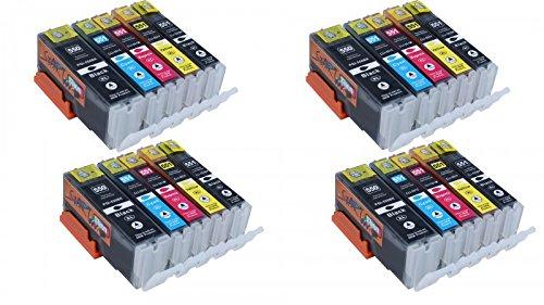 Preisvergleich Produktbild Start - 20 Stück kompatibel zu Canon PGI-550XL CLI-551XL Tintenpatronen Hohe Kapazität für Canon PIXMA MG5450 MG5550 MG5650 MG6350 MG6450 MG6650 IX6850 MG7150 MX725 IP7250 MX925 Drucker (4 grosse Schwarz,4 kleine Schwarz, 4 Cyan, 4 Magenta,