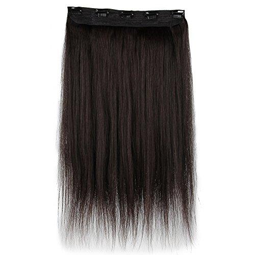 Beauty7 100g Extensions de Cheveux Humains à Clip 100% Remy Hair Haute Qualité #1B Couleur Noir Brun Longueur 60 cm