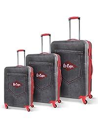 Lee cooper - val3abslinesilver - Ensemble de 3 valises à roulettes gris line hlyQZ