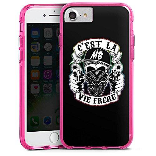 Apple iPhone X Silikon Hülle Case Schutzhülle Montanablack Fanartikel Merchandise C'EST LA VIE FRERE Bumper Case transparent pink