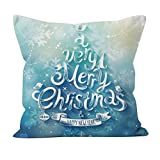 Hkfv Charming modello Amazing festive creative Christmas Style design Christmas Linen Square throw Flax Pillow case decorative Cushion Pillow case Best Christmas Home Decor cuscino copertina, Cotone e lino, Pattern I, 45cm *45cm