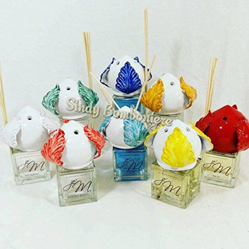 Bomboniere profumatore diffusore con applicazione pumo in ceramica di grottaglie (bomboniera confezionata da noi)