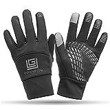 Wooya Touchscreen Winter Motorrad Handschuhe Wasserdicht Unisex Warme Handschuhe-Schwarz-XL