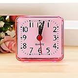 SYN Mini Reloj Despertador Compacto para el hogar, Mesa portátil, Rosa, Tamaño Libre
