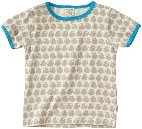 Loud + Proud Unisex - Baby T-Shirts Tierdruck 204, Grau (stone), 86/92 -