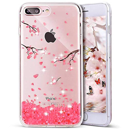 uposao Bling Bling iPhone 7Plus Carcasa Multicolor Bling Bling brillantes TPU Carcasa...