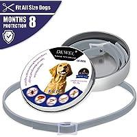 Iseebiz Collar Antiparasitario Gatos/Perros para Contrar los parásitos Pulgas, Garrapatas, Piojos y Mosquitos(XL)