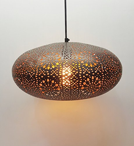 The Brighter Side Anora etched metal pendant light