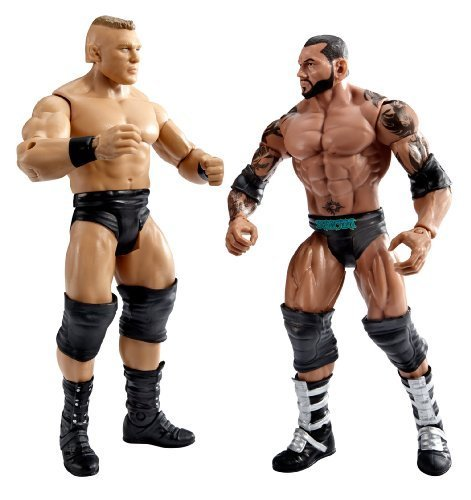Mattel WWE Wrestlemania Fantasy Match-up Brock Lesnar And Batista Action Figure, 2-Pack by