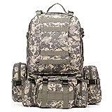 55L Taktischer Rucksack - TOOGOO(R) 55L 3D Aussen Militaer Taktischer Rucksack Wandern Tasche Camping, Digital-Dschungel