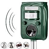 Outdoor Waterproof Ultrasonic Animal Repeller, Solar Powered & USB Charging, Divo Pet Repellent