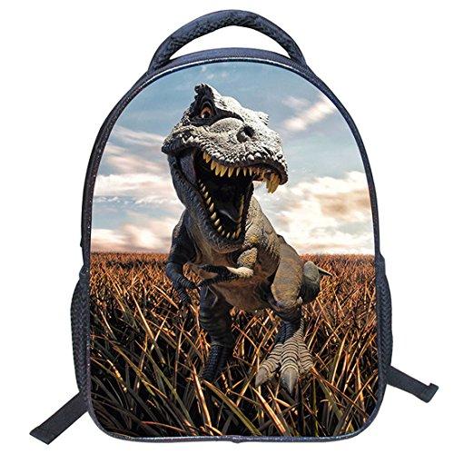 Imagen de jiyaru imprimir  dinosaurio patrón para niños bolso de escuela de guardería #5