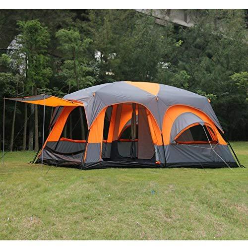 ZHJLOP Zelt 6 8 10 12 Person 2 Schlafzimmer 1 Wohnzimmer markise Sun Shelter Party Familie wandern Strand Angeln Outdoor Camping tentter Party Familie wandern Strand Angeln Outdoor Camping Zelt