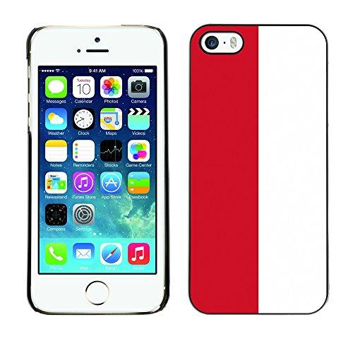 STPlus Indonesien Indonesische Flagge Harte Hülle Tasche Schutzhülle für Apple iPhone 5 / 5S -