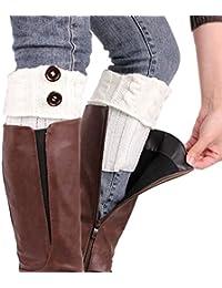 Calentadores para Mujer,TININNA Cálido Invierno Calentadores de Pierna Calcetines para Botas de Punto Polainas