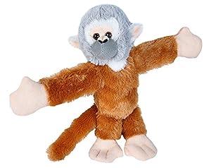 Wild Republic Huggers - Pulsera de Peluche de Mono de Ardilla (20 cm), diseño de Perro
