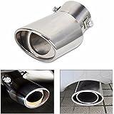 Takestop® Extensión para silenciador de acero inoxidable tubo desagüe modelo redondo entrada 55–66mm salida 80mm Longitud 140Mm Universal