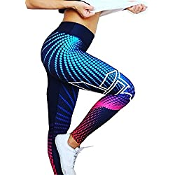 LILICAT® Cintura Alta Push Up de Fitness, de Impresión 3D para Mujer,Pantalones Ropa Elasticos de Deportes/Gimnasio/Yoga/Running/Correr/Pilates/Gym Skinny, Leggings en Oferta Verano Moda