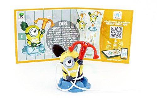 Carl-figur (Kinder Überraschung, CARL Figur (SD747) mit Beipackzettel von den Minions 3)