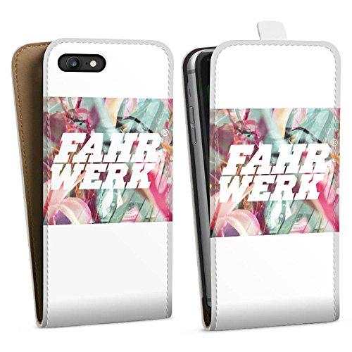 Apple iPhone X Silikon Hülle Case Schutzhülle Fahrwerk Bunt Muster Downflip Tasche weiß