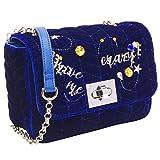 PACO TORA Samtasche für Frauen Umhängetasche Mode handtasche Kette tragetasche leichtgewichtig Messenger Bag - Klassische Kollektion