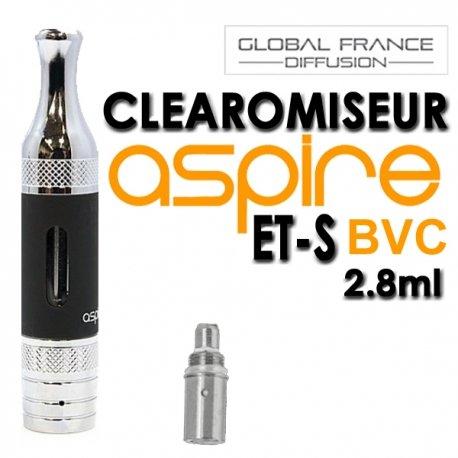 ASPIRE – ASPIRE BVC ET-S Schwarz- CLEAROMISEUR 2,8 ml – BDC-ETS-noir