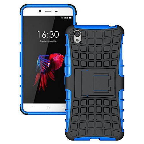 PES Shock Proof Protective Rugged Armor Super Hybrid Heavy Duty Back Case Cover For OnePlus X - Power Blue