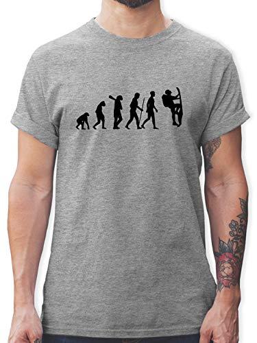 Evolution - Klettern Evolution - L - Grau meliert - L190 - Tshirt Herren und Männer T-Shirts