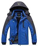 Wantdo Chaqueta de Montaña Esquí Impermeable para Hombres Cielo Azul Large