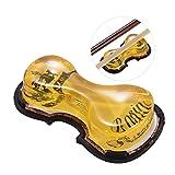 ammoon Transparent Colophane Faible Poussière à la Main avec Violon en Forme de Boîte en Plastique Universel pour Instruments à cordes de musique Violon Violoncelle Erhu