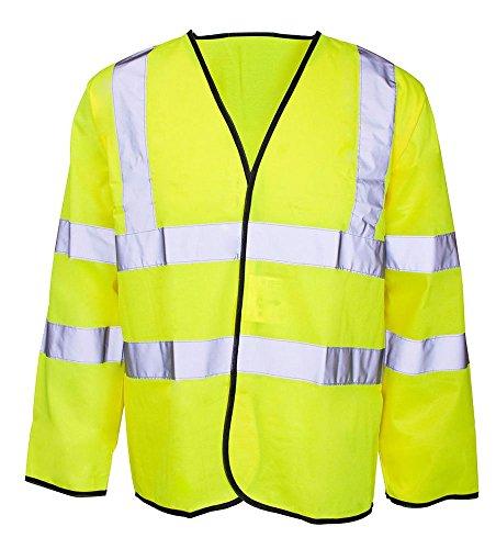 Fast Fashion - Hi Viz Manches Longues Haute Visibilité Vis Un Gilet Veste Vêtements De Travail Gilet - Mens