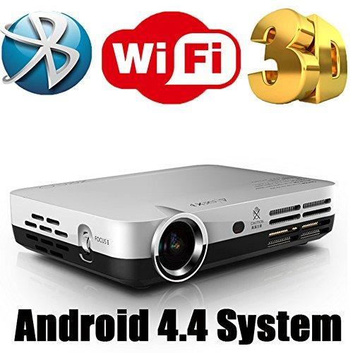 Mini Projecteur 3D HD Projecteurs DLP Home Video Beamer avec Android Dual WIFI Bluetooth Miracast Airplay HDMI Connect Télévision