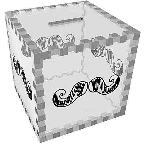 Azeeda 'Bigote' Caja de Dinero / Hucha MB00012435