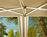 Lifetime Garden Foldable Gazebo - Taupe/ White