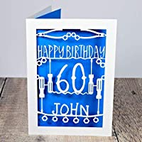 Personalised Birthday Card for Him with Name and Age. Birthday Idea for Engineers, Mechanics, DIY Dad, Grandad, Uncle, Son, Husband, Brother, Boyfriend. 30th, 40th, 50th, 60th, 70th, 80th Birthday Card A5 Size