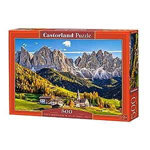CASTORLAND Santa Maddalena in Val di Funes, Italy 500 pcs Puzzle - Rompecabezas (Italy 500 pcs, Puzzle Rompecabezas, Paisaje, Niños y Adultos, Niño/niña, 9 año(s), Interior)