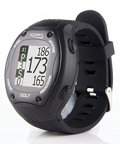 POSMA GT1 - GPS, GPS, GPS, Gama de Relojes de Golf, Cursos de Golf precargados, sin Descarga, sin Suscripción, Color Negro, Incl. EE. UU, Canadá, Europa, Australia, Nueva Zelanda