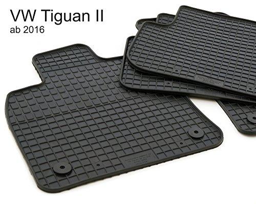 Preisvergleich Produktbild NEU! Gummimatten VW Tiguan 2 (2016) Original Qualität Gummi Fußmatten Automatten 4.teilig