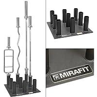 MiraFit - Vertikaler Ständer für Langhanteln - strapazierfähig - für 9 olympische Hantelstangen