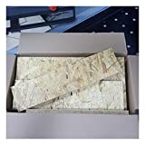 9-10kg Reste Gemisch OSB/3 Grobspanplatte Zuschnitt Holz Platten Feuchtraum-geeignet nach DIN EN 300 Verlegeplatten Holzwerkstoff-Platten Spanplatten
