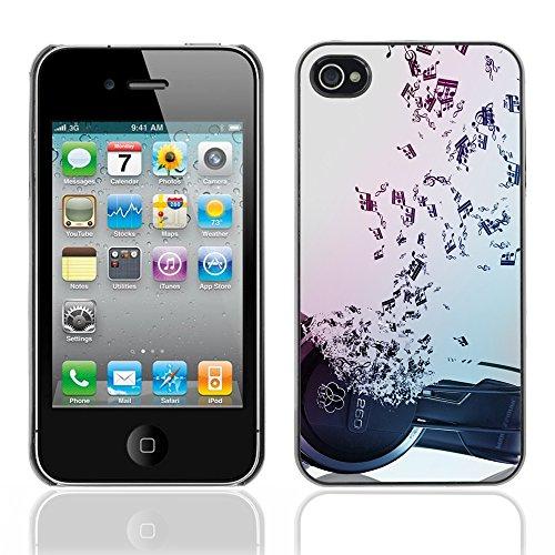 Graphic4You I Love House Musik Design Harte Hülle Case Tasche Schutzhülle für Apple iPhone 4 und 4S Design #11