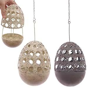 Hängende Metall Laubsägearbeit Egg Teelichthalter