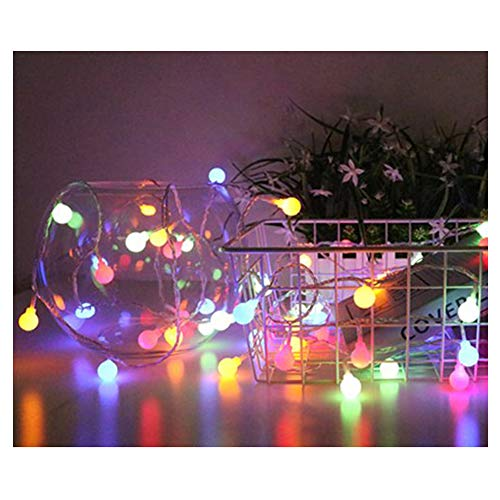 chterketten, 2M, 2 Modi, 20 LED, Multicolor Kristallkugel, Globe Fairy Lichterketten, Indoor Outdoor Weihnachtsdekorative Lichter ()