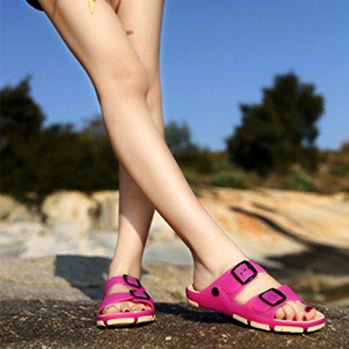 QVRGE Hommes Et Femmes Pantoufles Sandales Antidérapantes Pantoufles Dintérieur Pantoufles De Plage NineRedFemale