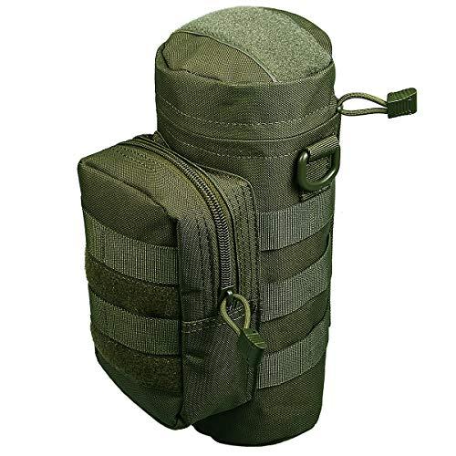 Xidan 1000D Nylon Bottiglia Borraccia d\'acqua Impermeabile Multiuso Sacchetto con Custodia Militare Borsa Tattica Molle con Bollitore Outdoor Cintura Sacchetto Marsupio