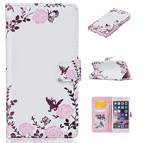 Linvei Handytasche for Huawei P9 flip leder handyhülle mit Bunte Printing Muster Wallet Case und TPU Inner Backcover Color 9