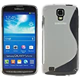 VComp-Shop® S-Line TPU Silikon Handy Schutzhülle für Samsung I9295 Galaxy S4 Active - TRANSPARENT